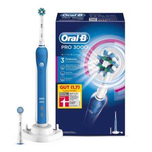 Oral-B Pro 3000 Elektrische Zahnbürste auf weissem Grund