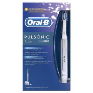 Oral-B Pulsonic Slim in der Verpackung auf weissem Hintergrund