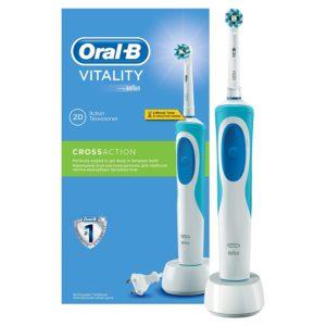 Oral-B Vitality elektrische Zahnbürste vor weissem Hintergrund